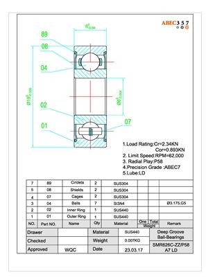 REEL ABEC7 Hybrid CERAMIC Si3N4 Ball Bearings FOR AVET JX 6//3 Two Speed SPOOL